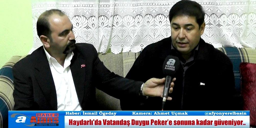 Haydarlı'da Vatandaş Duygu Peker'e Sonuna Kadar Güveniyor..