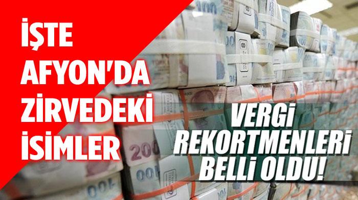 Afyonkarahisar'da En çok Vergi Veren 10 Firma!..
