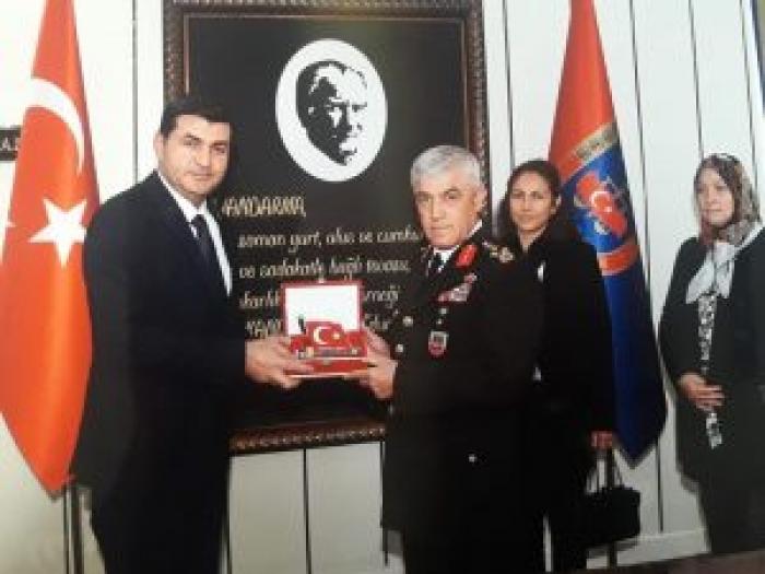 Genel Başkan ışık Jandarma Genel Komutanını Ziyaret Etti.