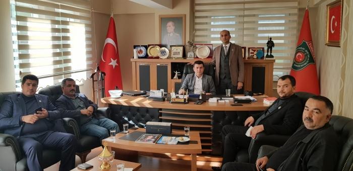 Başkan Kumartaşlı Genel Başkan Mustafa ışık'ı Ziyaret Etti.