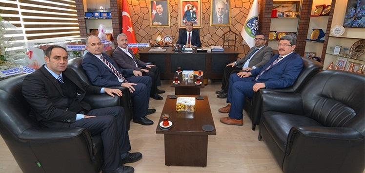 Sendika Başkanlarından Başkan Mustafa çöl'e Ziyaret