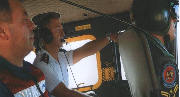 Jandarma Helikopter İle Denetim Yaptı