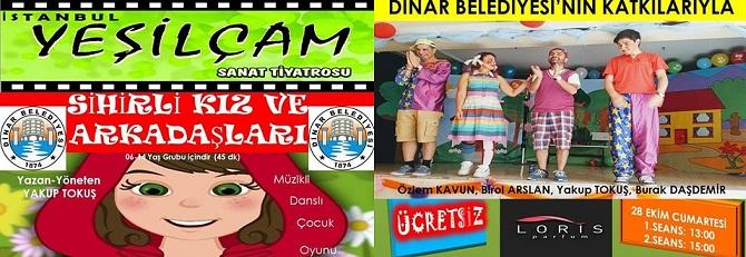 Sihirli Kız Ve Arkadaşları 28 Ekim'de Dinar'da Sahne Alıyor