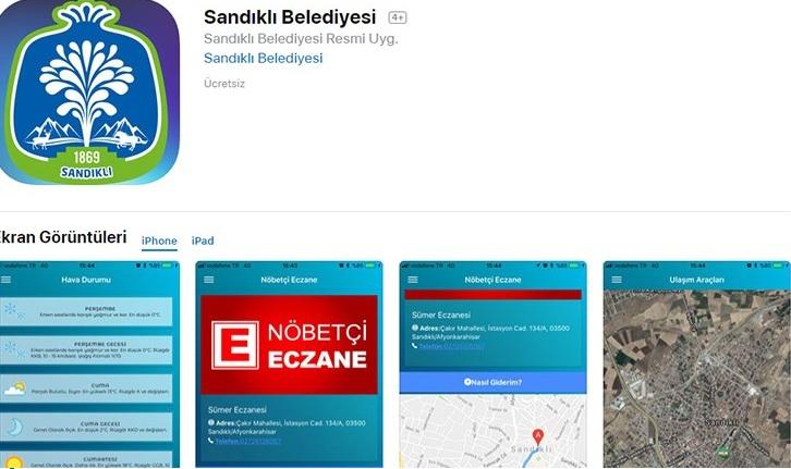 Sandıklı Belediyesi App Store'da