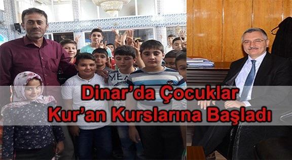 Dinar' Da çocuklar Kur'an Kursuna Başladı